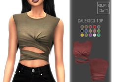 Calexico Top at Simpliciaty via Sims 4 Updates