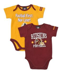 Take a look at this Burgundy & Gold Washington Redskins Bodysuit Set - Infant by NFL on #zulily today!