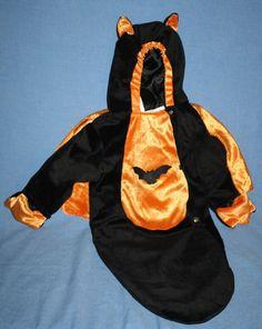Baby Bat Bunting Orange Black Halloween Costume Reborn Infant Gothic 0-9 months #CelebrationCreations #CompleteOutfit #Halloween