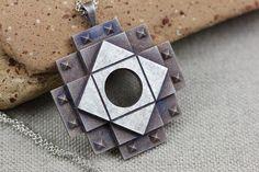 Items similar to Chakana Necklace Pendant Inca Cross Peruvian Peru Incan Sacred Geometry Shaman Amulet Talisman Sterling Silver on Etsy Armour Tattoo, Inca Tattoo, Sister Tattoos, Swarovski, Unique Jewelry, Symbols, Handmade Gifts, Tantra, Folklore