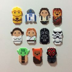 Chibi Star Wars characters magnet set hama beads by enfrikarte