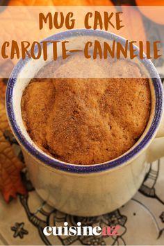 Les mug cakes sont des gâteaux express préparés et cuits au micro-ondes dans un mug. Ce mug cake est à la carotte et à la cannelle. #recette #cuisine #mugcake #gateau #microondes #carotte #cannelle #patisserie Mug Cakes, Cake Mug, Yummy Cakes, Industrial, Stainless Steel, Tools, Cooking, Easy, Carrot Soup