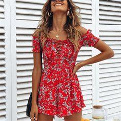 f621b7a518d4 Donne sexy estate manica corta casual mini abito bohemien per le donne  abiti da festa abiti