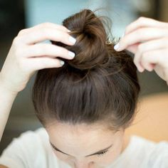 Tricks to getting the perfect topknot bun, ponytail and more: