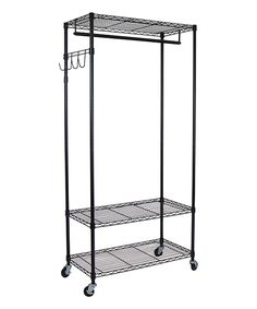 Look what I found on #zulily! Black Adjustable Garment Rack by Oceanstar Design #zulilyfinds