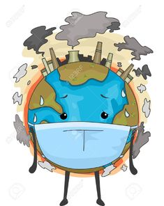Mascot Illustration of the Earth Wearing a Surgical Mask to Cope with Air Pollution , Planet Drawing, Earth Drawings, Save Planet Earth, Save Our Earth, Save Environment Posters, Save Earth Drawing, Air Pollution Poster, Save Earth Posters, Save Mother Earth