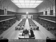 The Reading Room, Public Library of NSW, 1942, by Sam Hood.  Find more detailed information about this photograph: http://acms.sl.nsw.gov.au/item/itemDetailPaged.aspx?itemID=12978.  From the collection of the State Library of New South Wales www.sl.nsw.gov.au