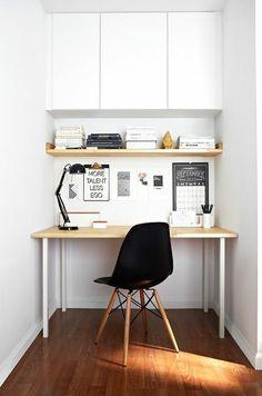 Home Office in der Nische