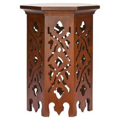 I pinned this Moroccan-inspired Kingston End Table of bayur wood from the Safavieh Furniture event at Joss and Main!