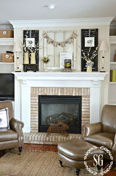A CHIPPY, BLOOMING, NEST-INSPIRED SPRING MANTEL - StoneGable