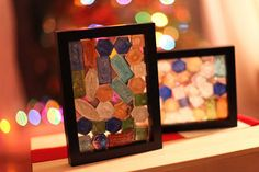 great craft to do with kids, also shown hung with suction cups on a window.