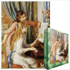 Music Treasures Co. Two Girls at the Piano Puzzle by Music Treasures Co.. $25.00. Two Girls at the Piano. 1000 piece puzzle. 26.5 x 19.25 inches. Pierre-Auguste Renoir was invited by the French government to produce a painting for the new Musee du Luxembourg in Paris. He chose as his subject two girls at the piano. Renoir lavished extraordinary care on this project, refining its composition in a series of five canvases. Features: Superior-quality piece by piece, P...
