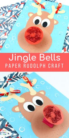 Arty Crafty Kids Jingle Bells Rudolph Reindeer Craft - Explore and play with round shapes to create a Rudolph the Red Nosed Reindeer Christmas Art Projects, Christmas Arts And Crafts, Preschool Christmas, Christmas Activities, Xmas Crafts, Kids Christmas, Christmas Card Ideas With Kids, Red Crafts, Winter Activities For Kids