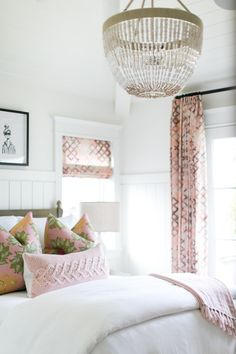 bedroom design with pink accents, girl room decor, House Tour: Charming in Corona Del Mar Girls Bedroom, Guest Bedrooms, Home Bedroom, Bedroom Furniture, Master Bedroom, Bedroom Decor, Quirky Bedroom, Bedroom Ideas, Peaceful Bedroom