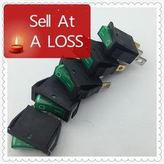 5 unids/lote Luz LED Verde 3PIN SPST ON/OFF G124 Boat Rocker Switch 16A/250 V 20A/125 V Car Dash Panel de Camiones RV ATV Home