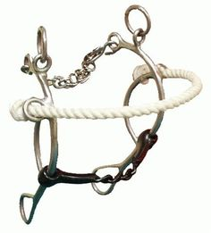 Showman Rope Nose Gag with Chain Mouth, Gag Hackamore Bit