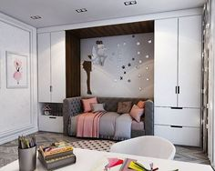 Teen girl bedrooms, see this truly adorable styling plan tip 9896093871 today. Small Room Bedroom, Room Decor Bedroom, Girls Bedroom, Girl Bedroom Designs, Kids Room Design, Dream Rooms, Luxurious Bedrooms, My New Room, House Rooms