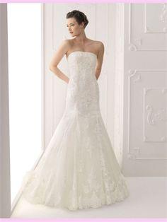 White Mermaid Lace Wedding Dresses