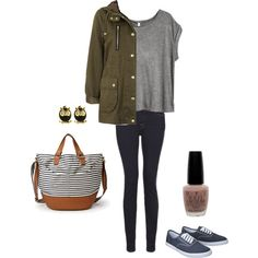 A casual outfit for fall