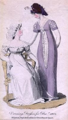 Evening dresses, 1801, Lady's Monthly Museum