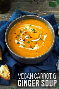 Print Recipe Jump to RecipeStep into Spring with this light & healthy Vegan Carrot Ginger Soup. I've included both Instant Pot & stovetop instructions. I'm back with another Instant… Easy Vegan Dinner, Vegan Dinner Recipes, Healthy Soup Recipes, Vegan Dinners, Vegetarian Recipes, Vegan Soups, Chili Recipes, Fall Recipes, Cocktail Recipes