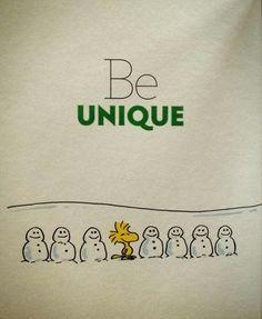 'Be Unique', Woodstock.