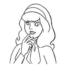 Cartoon Scooby Doo Daphne Blake Coloring Pages With Images