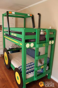 John Deere Tractor Bunkbed for kids #diy #diykids #kidfurniture