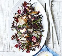 Smoked mackerel & beetroot salad with creamy horseradish dressing