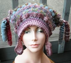 FREEFORM CROCHET HAT WITH EARFLAPS by woolmountain, via Flickr