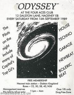 Odyssey 1989 - acid house rave flyer uploaded to #phatmedia #raveflyers