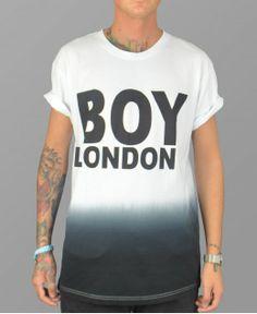 boy london t shirt in dip dye