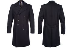 Paul Smith Navy Double Breasted Coat