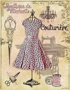 Lamina Decoupage Costura