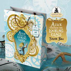 Alice Through The Looking Glass Favor Bag - Alice in Wonderland - Alice in…