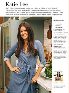 From Family Circle magazine. Katie Lee's Blender Pancakes.