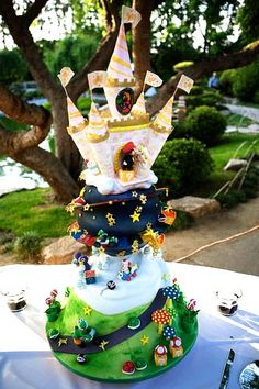 Holy Mario Kart Cake! I would be the coolest mom ever, if I could pull this off!