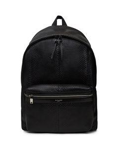Saint Laurent Black Python Leather Backpack-FW14YSLT3 - Sneakerboy