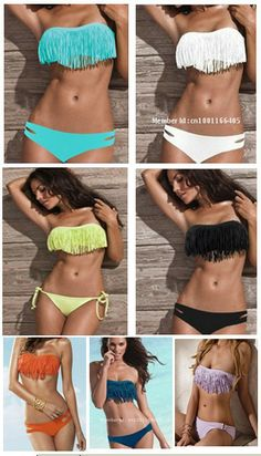 Hot Sale! New Fringe Tassel Boho Bikini For Women, Swimsuit Swimwear Bath Beach Wear Suit 7 Colors SML-in Bikinis Set from Apparel & Accessories on Aliexpress.com