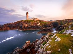 Sunset at Fanad Head Lighthouse, County Donegal, Ireland. Sunset at Fanad Head Lighthouse, County Donegal, Ireland… Destination Voyage, Destination Wedding, Wedding Venues, Wedding Ideas, Voyage Dublin, Top 10 Destinations, Images Of Ireland, Donegal, Paisajes