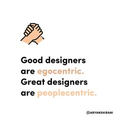 Good designers are egocentric. Great designers are peoplecentric.  #ux #ui #uiux #uxui #uxdesign #uidesign #userinterfacedesign #userexperiencedesign #uxdesigner #uidesigner #app #designer #mobileapp #art #artist #dribbble #behance #adobe #sketch #interface #webdesign #uitrends #dailyui #dailydesign #instaui #graphicdesign #graphic #designinspiration #uxigers
