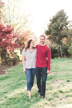 Pop of Color | Engagement Outfits | Linwood Estate Engagement