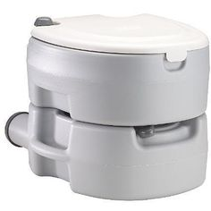 Toilet lets you comfortable relieve yourself, even while on outdoor adventures One-hand flush camping gear features leak-free seats Camping toilet has elongated, contoured seats for ultimate comfort H