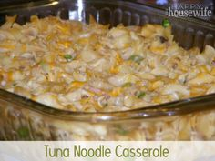 Easy and inexpensive recipe for Tuna Noodle Casserole | The Happy Housewife