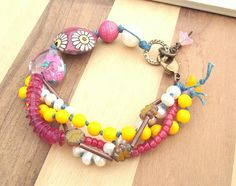 Hey, I found this really awesome Etsy listing at https://www.etsy.com/ru/listing/199295986/pink-heart-bracelet-multistrand-bracelet