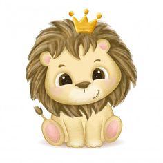 Sheep Cartoon, Baby Cartoon, Cute Cartoon, Lion Drawing, Baby Drawing, Baby Animal Drawings, Cute Drawings, Lama Animal, Lion King Animals