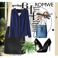 Romwe 6 by aida-1999 on Polyvore featuring moda, Dolce&Gabbana, Furla, women's clothing, women's fashion, women, female, woman, misses and juniors