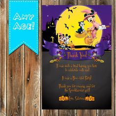 Mickey Mouse Birthday Halloween Party by MyPrintablePartyLine