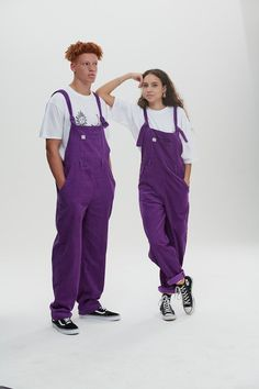 Stay cool in purple 💯Oversized, baggy, style dungarees in heavy weight corduroy 🔥'Easton' dungarees are the one 😎Handmade, ethical, sustainable unisex so you can twin with your bestie 🔥Go easy in 'Easton'. Find these beauties online now Dope Fashion, Unisex Fashion, Colorful Fashion, Fashion Outfits, Men's Dungarees, Overalls Outfit, Teenage Boy Fashion, Purple Outfits, Men Styles