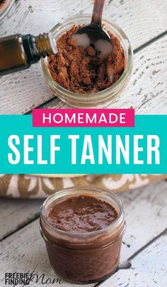 Would you like your skin to have a beautiful, sun-kissed glow but without exposing it to harmful rays or chemical laden tanners? Its easier than you may think! You need just a few minutes and three ingredients (lotion, cocoa and frankincense essential oi Self Tanner Homemade, Diy Self Tanner, Homemade Beauty Tips, Diy Beauty, Beauty Tricks, Homemade Products, Diy Products, Beauty Care, Beauty Hacks For Teens